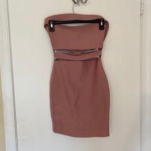 Pink Bodycon Bandage Dress